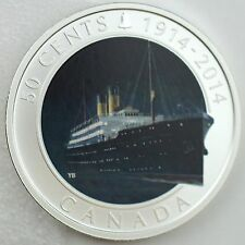 Canada 2014 50C RMS Empress of Ireland Lost Ships Canadian Waters Color & Silver