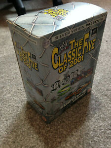 WWF WWE DVD Boxset THE CLASSIC FIVE OF 2001 - Very Rare Collectable DVD