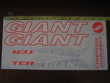 GIANT TCR COMPOSITE Stickers White, Orange & Silver.
