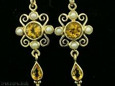 Earrings Pearl Yellow Gold Vintage & Antique Jewellery