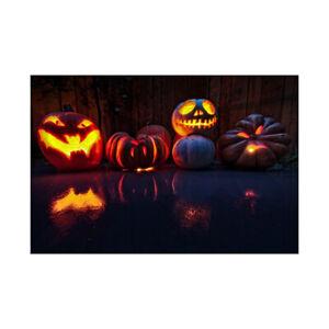 3*5ft/5*7ft Vinyl Backdrops Halloween Photo Pumpkin Moon Background Studio Props