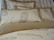 LAURA ASHLEY Emperor Paisley Gold DOUBLE BED QUILT COVER SET BNIP beige brown