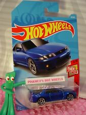 NISSAN SKYLINE GT-R R33 #46✰blue; pr5✰THEN AND NOW✰2018 i Hot Wheels case B