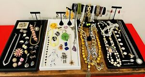 Antique Vintage Jewelry Lot Unresearched Costume Estate Buy Varied Signed Brooch