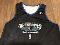 Vintage Starter NBA Minnesota Timberwolves Reversible Large Jersey Small Fitting