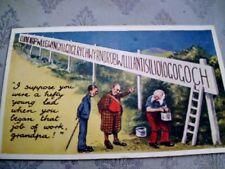 M76.Vintage Postcard.Man writing llanfyllinmachynlleth.
