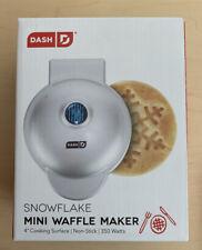 New in Box! Dash Mini Snowflake Waffle Maker Non-Stick