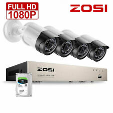 ZOSI 4CH 1080P 2MP DVR Home Outdoor CCTV Security Camera System HDMI Kit 1TB HDD