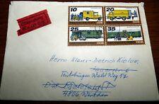 Eilsendung Brief Dresden 1978 DDR EF Viererblock Posttransport Bielefeld (24