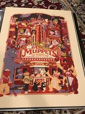 "Acme Archives Ltd.Disney Underground""Muppet Theatre"" James Carroll Screen Print"