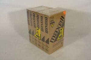 Maxell T-120 HGX-GOLD 6 Pack VHS Tapes New Dead stock Rare OOP