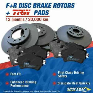Front + Rear Disc Rotors Brake Pads for Holden Commodore VE VF Calais