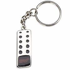 Official Subaru Logo STI Gas Pedal Key Tag Keyring Key Chain Genuine Wrx Sti