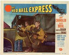 JEFF CHANDLER ALEX NICOL THE RED BALL EXPRESS ORIG 1952 11X14 LOBBY CARD 1789