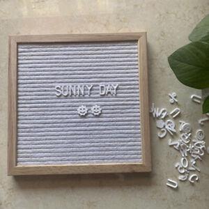 Felt Letter Board Wooden Frame Message Board Home Office Decor Birthday Gift_yk