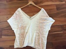 Free People Festival Off Shoulder Oversized Sweater X Small Lightweight Slouchy