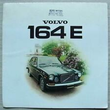 VOLVO 164E Car LF USA Specification Sales Brochure 1974 #RSP/PV 1036-74 USA