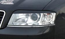 RDX Scheinwerferblenden AUDI A6 C5 4B Facelift 2001-2004 Böser Blick Blenden