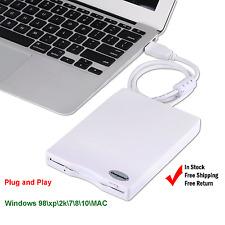"External Portable USB Floppy Drive 3.5"" 1.44 MB Disk Reader Windows 7 8 10 MAC"