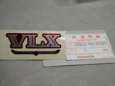 Honda NOS VT600, 1988, VLX Sticker, # 83610-MR1-670ZB    k