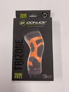 DonJoy Performance TriZone Knee Support Sleeve Left Large Orange NEW compress