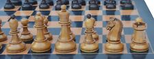 """Reproduction 1950 Dubronvink 3.75"""" Vintage Chess Set in Original Antique Look"""