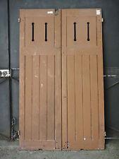 168 X 99,5 cm (A2) - Ancienne paire de volets ajourés, en chêne
