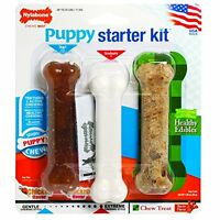 Nylabone Just For Puppies Starter Kit Bone Puppy Dog Chew Toys