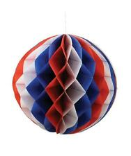 Red White and Blue Americana Fourth of July Decoration Honeycomb Ball S/3 rl1913