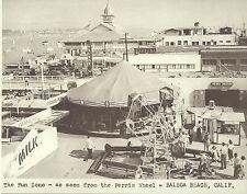 "NEWPORT BEACH Balboa FUN ZONE Carousel ARCADE Photo Print 1456 11"" X 14"""