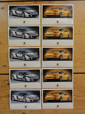 10x PORSCHE CARRERA GT 911 GT3 996 ORIGINAL AUFKLEBER STICKER LABEL STAMP NEU !!