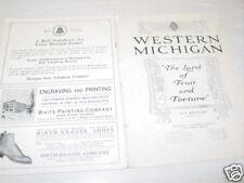 Vintage,Book,Western Michigan,Fruit,Fortune,Farming,Map
