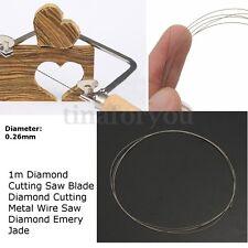DIY Diamond Cutting Wire Saw Blades for Metal Emery Jade Glass Rock Stone 0.26mm
