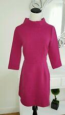 Boden Sheath Burgundy Flare Warm Cotton Dress UK 10 R US 6 R NEW