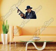 """Gangster Tommy Gun Mafia Al Capone Wall Sticker Room Interior Decor 25""""X20"""""""