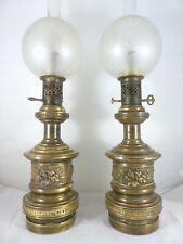 SUPERBE PAIRE DE LAMPES A REGULATEUR XIXème - PAIR OF LAMPS XIXth - LAITON BRASS