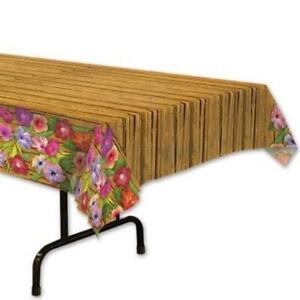 Luau Plastic Banquet Tablecloth Luau Party Supplies Decorations