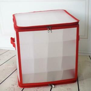 Holiday Ornaments Storage Box Cube with 64 Individual Compartments
