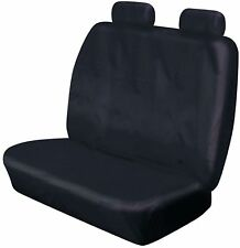 HEAVY DUTY FRONT DOUBLE BENCH BLACK WATERPROOF SEAT COVER NISSAN PRIMASTER