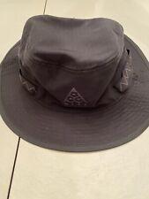 Nike ACG Bucket Hat Black CU6525-010 Size S/M Tailwind Aerobill Trail Hat