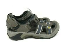 TEVA MEN'S SANDALS OMNIUM 2 LEATHER DRAWSTRING CLOSE TOES 6148 GRAY USA 9.5