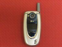 LG Model VX5200 Silver/Blue Verizon Wireless Flip Cell Phone *Fully Tested*