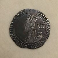 King Charles 1st silver hammered shilling i coin