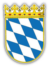 Bavaria State Coat Of Arms Germany Car Bumper Sticker Decal 4'' x 5''
