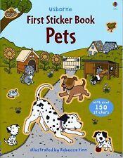 Pets (Usborne First Sticker Books) by Greenwell, Jessica