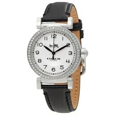 Coach Madison Silver Dial Ladies Fashion Black Leather Band Watch 14502399 $250