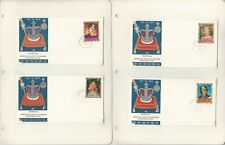 Barbuda Stamp Collection 1970-71 FDC & Maxim Cards, #43-79, 25 Pages, Royalty