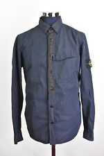Men's Stone Island Brushed Cotton Nylon Poplin Shirt Medium