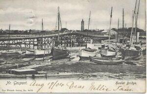 Haslar Bridge - Nr Gosport - Hampshire - 1904 Postcard (00230)