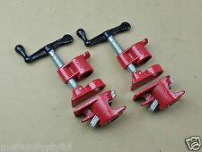"""GLUING PIPE CLAMP 3/4"""" 2 SETS - WOODWORKING VICE HAND TOOL"""